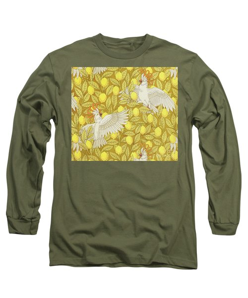 Cockatoos With Lemons Long Sleeve T-Shirt