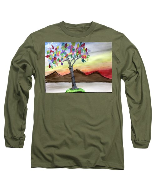 Colored Tree Long Sleeve T-Shirt