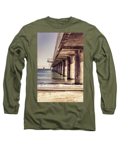 Columns Of Pier In Burgas Long Sleeve T-Shirt