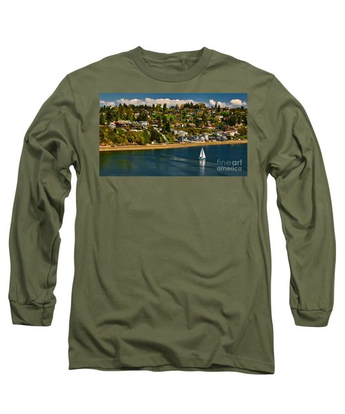 Commencement Bay,washington State Long Sleeve T-Shirt