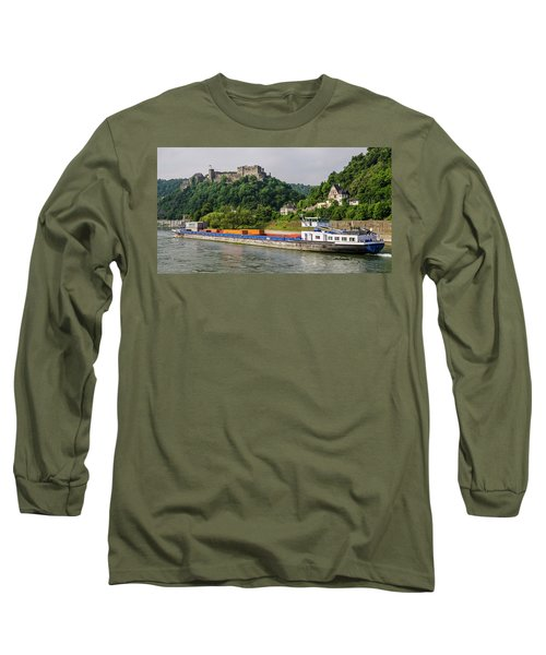 Commerce Along The Rhine Long Sleeve T-Shirt