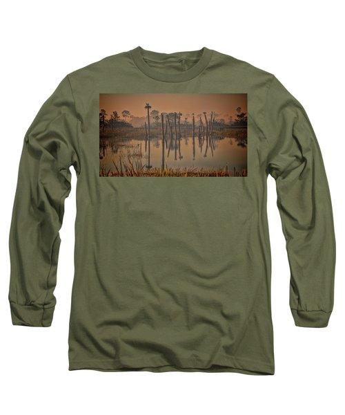 Cool Day At Viera Wetlands Long Sleeve T-Shirt