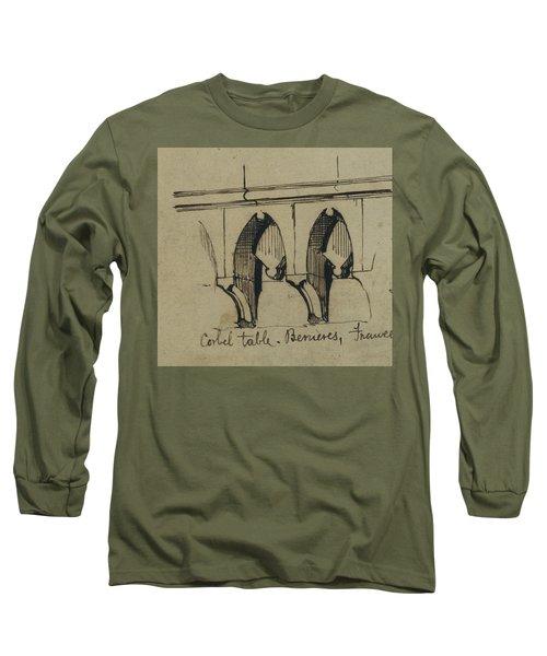 Corbel Table - Benieves, France Long Sleeve T-Shirt