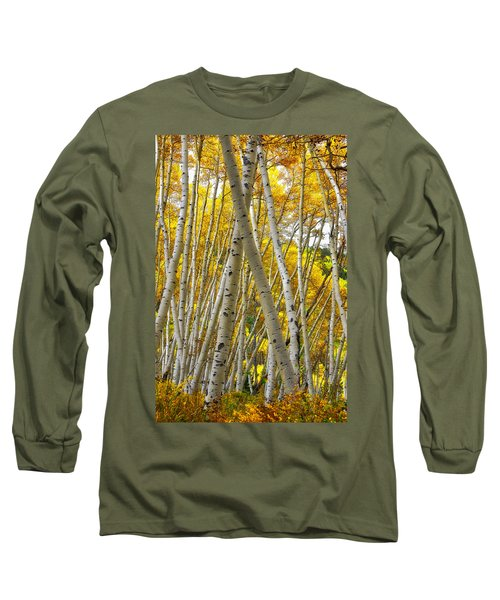 Crossed Aspens Long Sleeve T-Shirt