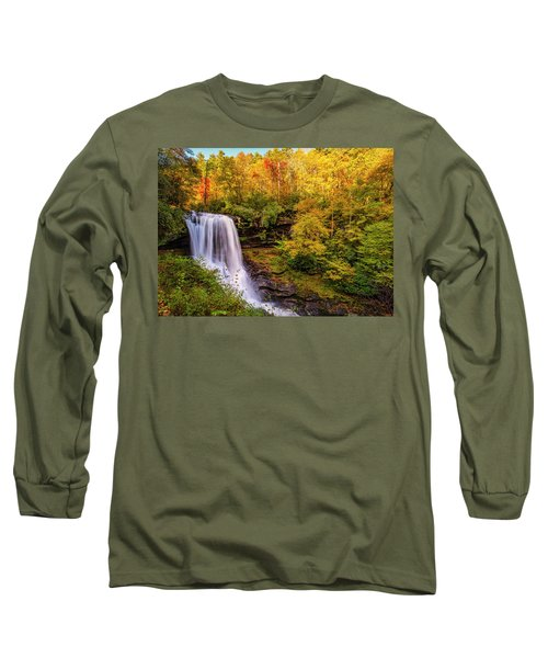 Long Sleeve T-Shirt featuring the photograph Cullasaja Falls In Full Bloom by Andy Crawford