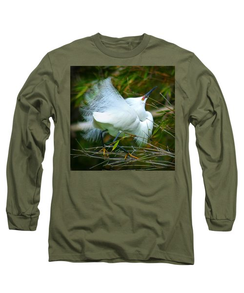 Dancing Egret Long Sleeve T-Shirt