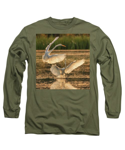 Dancing Egrets  Long Sleeve T-Shirt