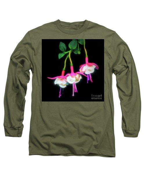 Dancing Fuchsia Abstract Long Sleeve T-Shirt