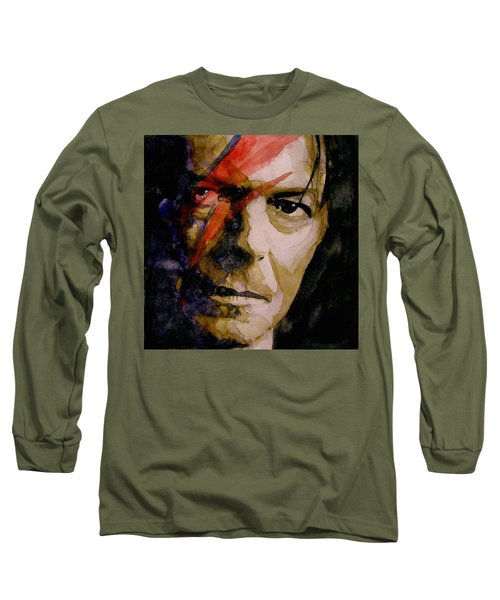 David Bowie - Past And Present  Long Sleeve T-Shirt