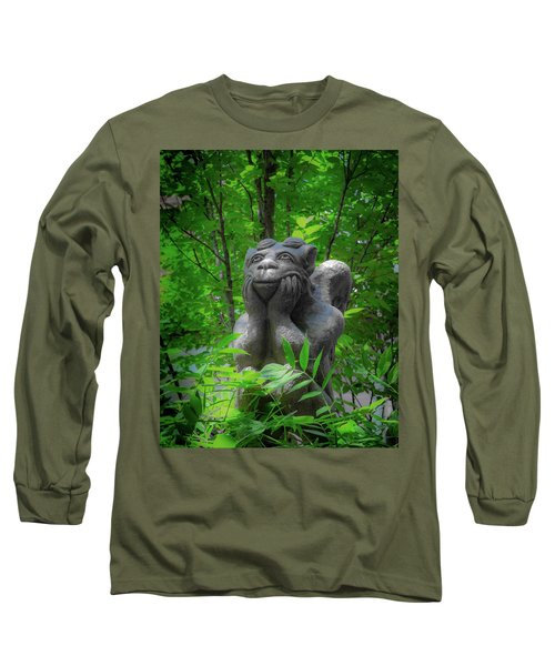 Daydreaming Gargoyle Long Sleeve T-Shirt