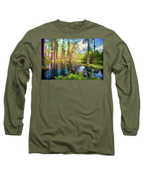 Dazzling Cypress Reflections Ap Long Sleeve T-Shirt