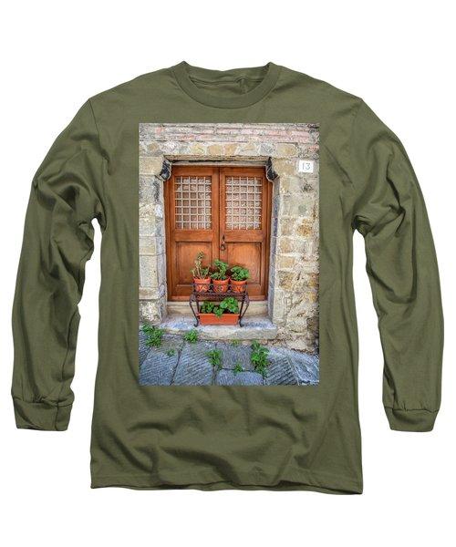 Door Thirteen Of Tuscany Long Sleeve T-Shirt