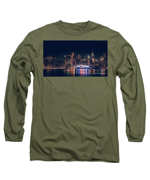 Downtown At Night Long Sleeve T-Shirt