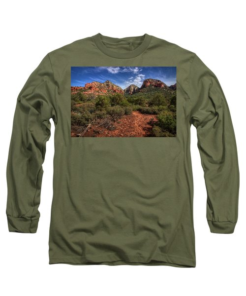 Dramatic Cloudscape Over Capitol Butte Long Sleeve T-Shirt