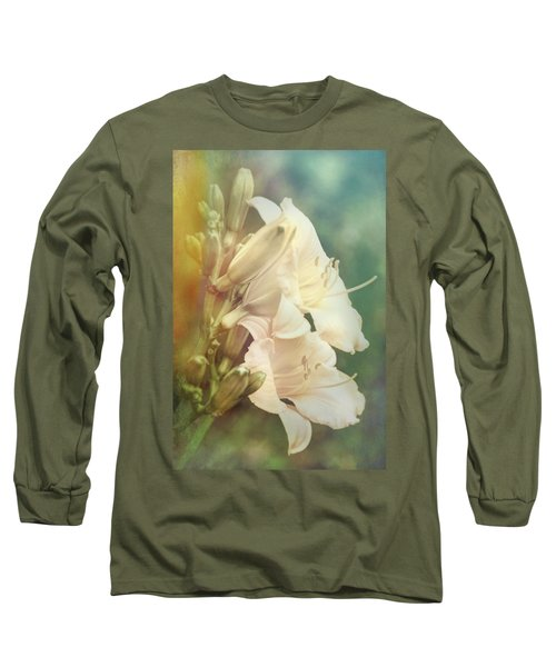 Long Sleeve T-Shirt featuring the photograph Dreamy Lilies by Leda Robertson