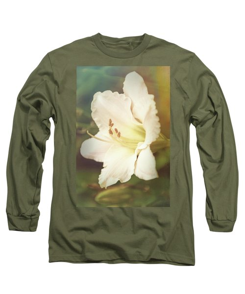 Long Sleeve T-Shirt featuring the photograph Dreamy Lily by Leda Robertson