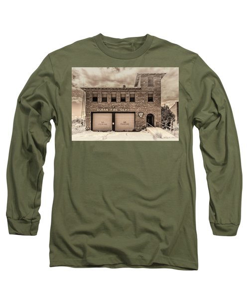 Long Sleeve T-Shirt featuring the photograph Duran Fire Dept by Lou Novick