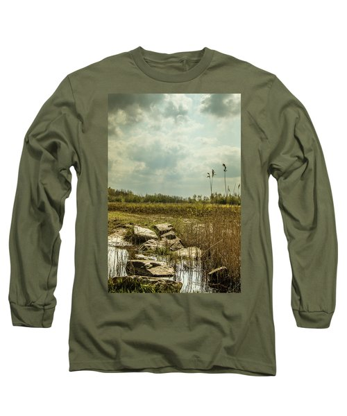 Long Sleeve T-Shirt featuring the photograph Dutch Landscape. by Anjo Ten Kate