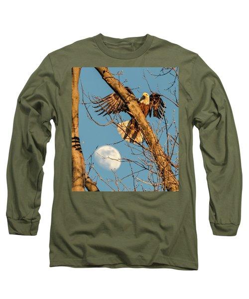 Eagle And Moon  Long Sleeve T-Shirt