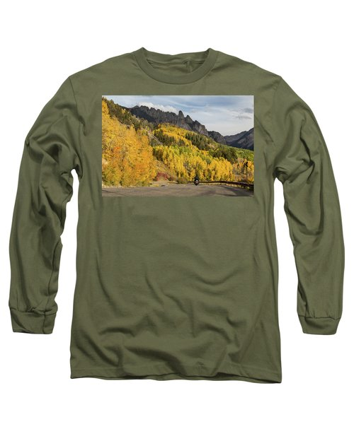 Long Sleeve T-Shirt featuring the photograph Easy Autumn Rider by James BO Insogna