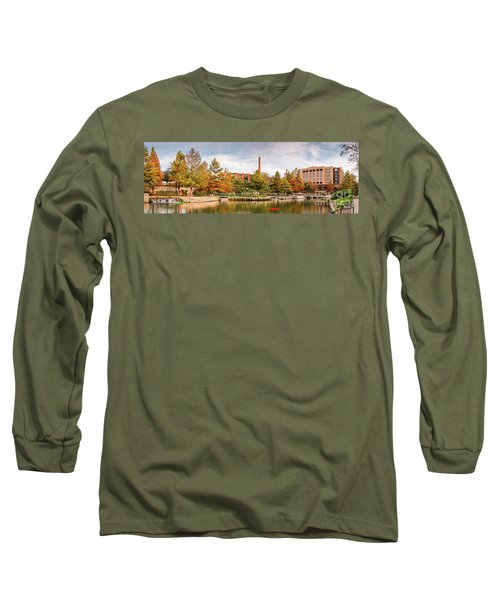 Fall Panorama Of Pearl Brewery, Hotel Emma, And San Antonio Riverwalk - Bexas County Texas Long Sleeve T-Shirt