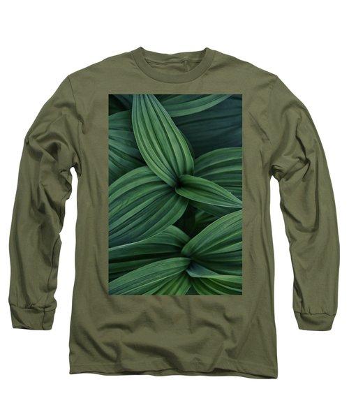 False Hellebore Plant Abstract Long Sleeve T-Shirt