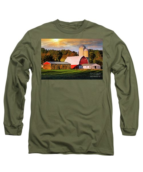 Long Sleeve T-Shirt featuring the photograph Family Farm by Scott Kemper