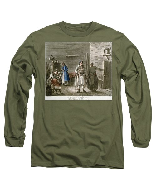 Farmers In A Cottage In Savonia, Finland Long Sleeve T-Shirt