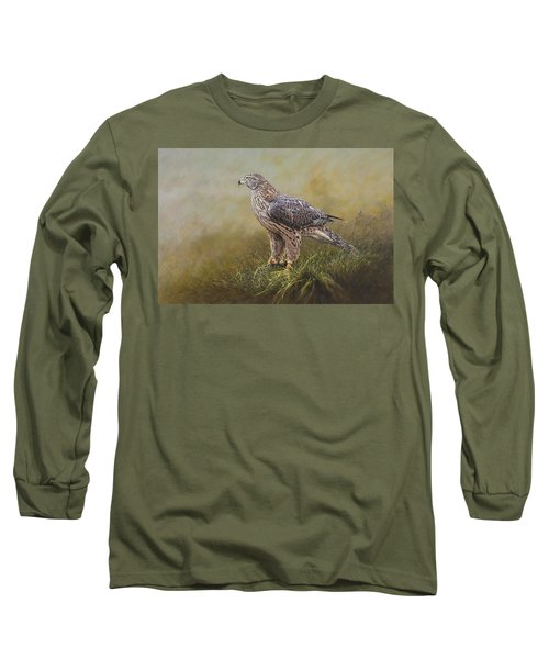 Female Goshawk Paintings Long Sleeve T-Shirt