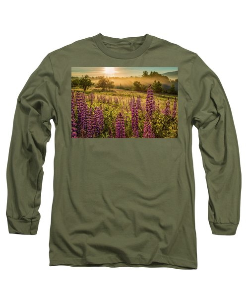Fields Of Lupine Long Sleeve T-Shirt