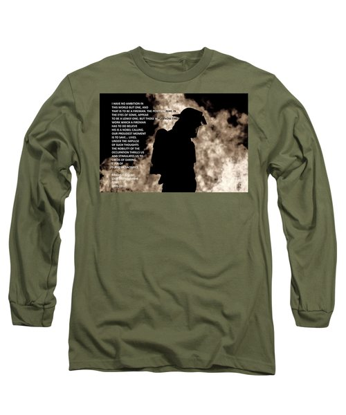 Firefighter Poem Long Sleeve T-Shirt