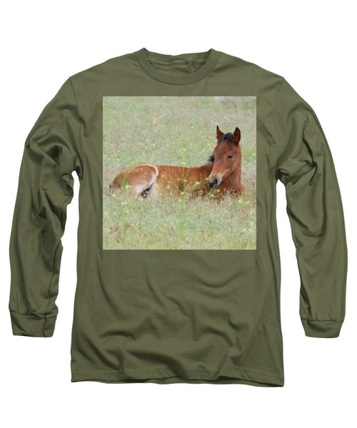 Foal In The Flowers Long Sleeve T-Shirt