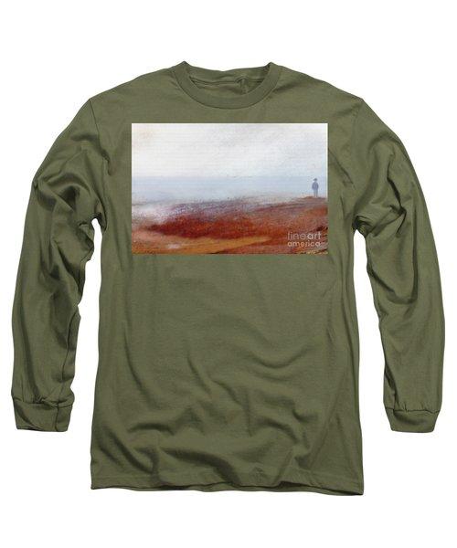Foggy Beach Walk Long Sleeve T-Shirt