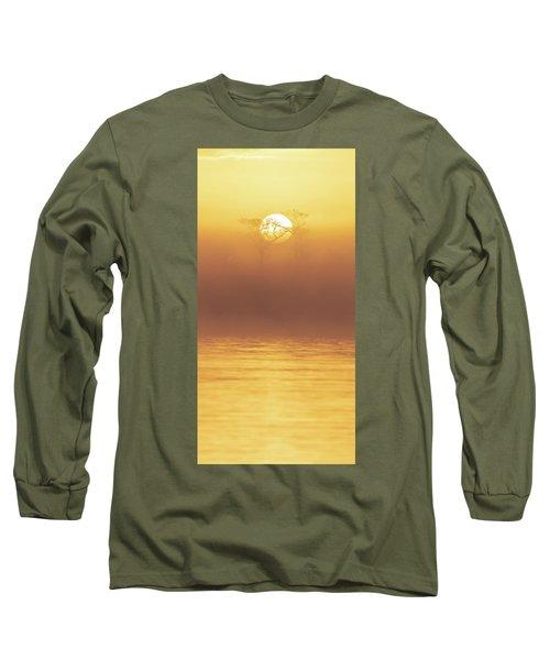 Foggy Wetlands Sunrise Long Sleeve T-Shirt
