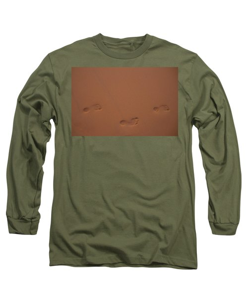 Foot Prints In Sand Long Sleeve T-Shirt