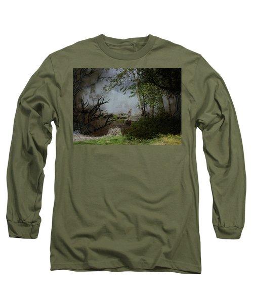 Fox On Rocks Long Sleeve T-Shirt