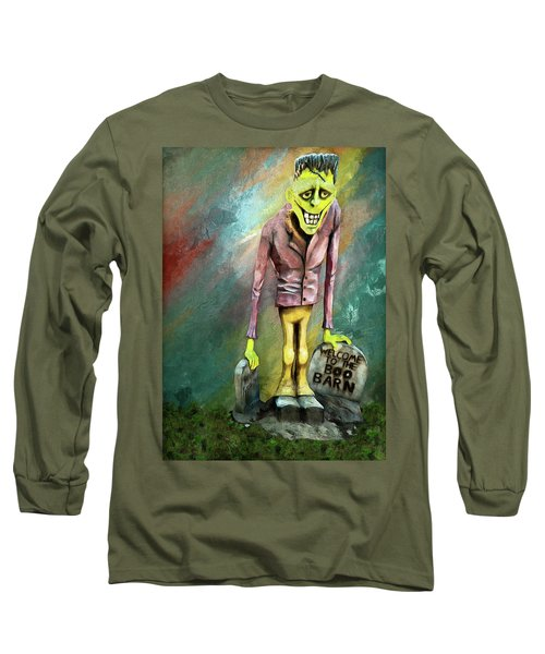 Frankie At The Boo Barn Long Sleeve T-Shirt