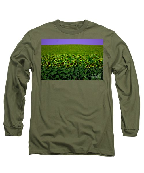 Front Row Sunflower Smiles Long Sleeve T-Shirt