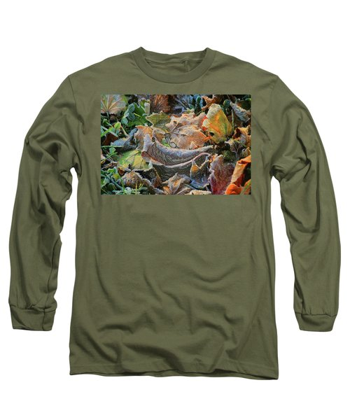 Frost On Leaves Long Sleeve T-Shirt