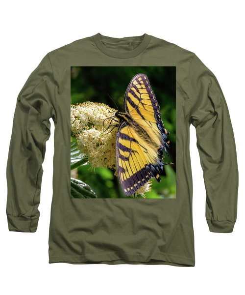 Fuzzy Butterfly Long Sleeve T-Shirt