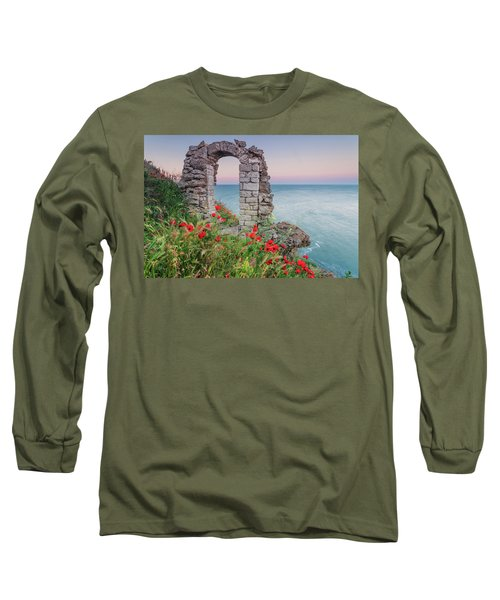 Gate In The Poppies Long Sleeve T-Shirt