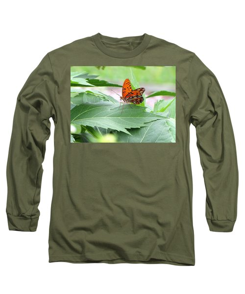 Gently Alighting Upon A Leaf Long Sleeve T-Shirt