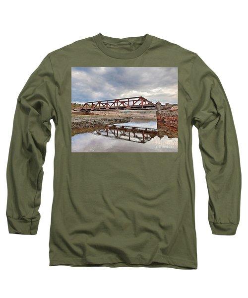 Ghost Bridge - Colebrook Reservoir Long Sleeve T-Shirt