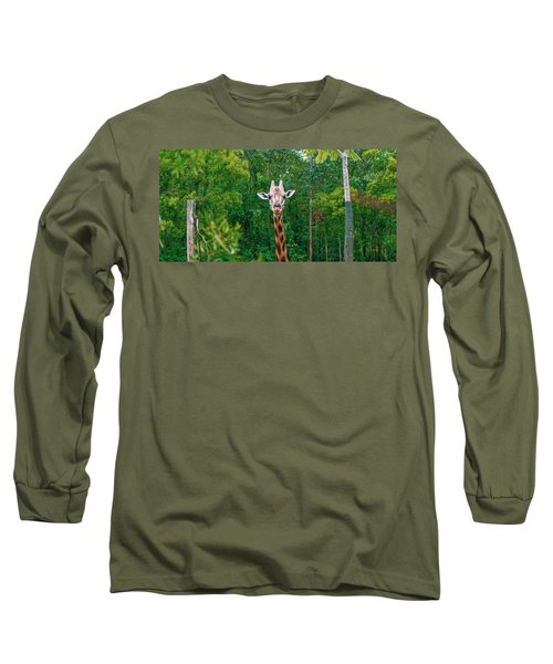 Giraffe Looking For Food During The Daytime. Long Sleeve T-Shirt