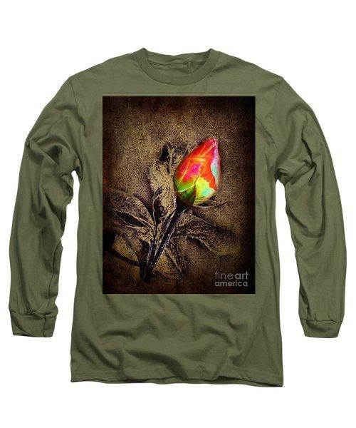 Glowing Rose Long Sleeve T-Shirt