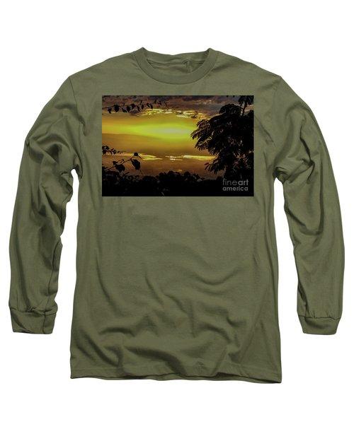 Golden Sunset On Strawberry Hill Long Sleeve T-Shirt