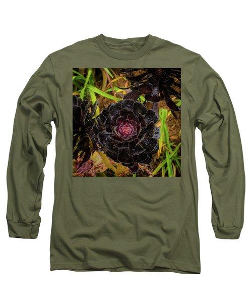Goth Succulent Long Sleeve T-Shirt