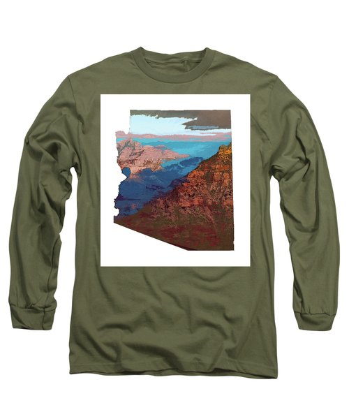 Grand Canyon In The Shape Of Arizona Long Sleeve T-Shirt