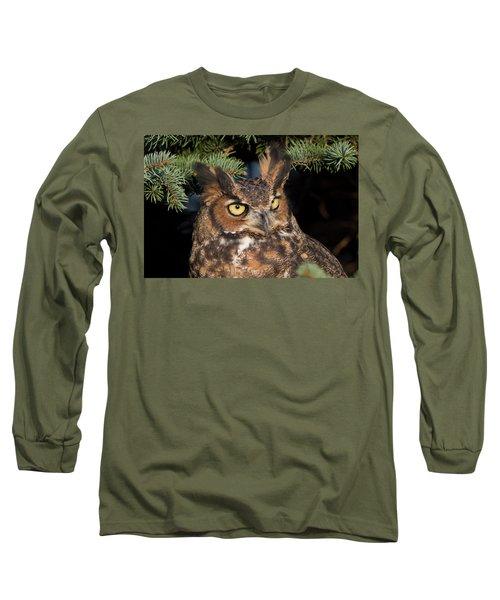 Great Horned Owl 10181802 Long Sleeve T-Shirt