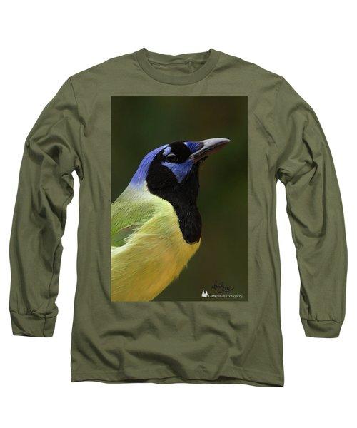 Green Jay Portrait Long Sleeve T-Shirt